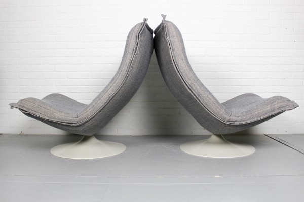 Set of vintage Lounge Chairs F980 by Harcourt for Artifort, 1975