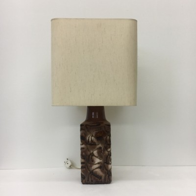 Large square shaped ceramic table lamp, 1960's