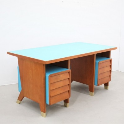 Mid century Gio Ponti writing desk from the administrative offices in Forlì, 1950s