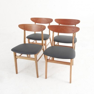 Set of 4 dining chairs from Farstrup