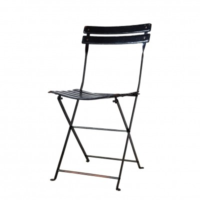 Black 'Celestina' Folding Chair by Marco Zanuso