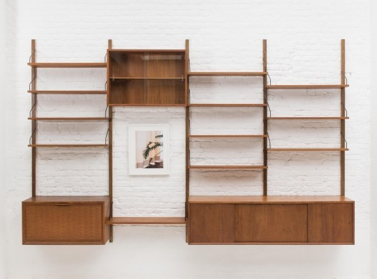 Vintage 'Royal System' wall unit by Poul Cadovius, Denmark 1960