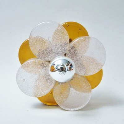 Flower wall lamp by Albano Poli for Poliarte, 1970s