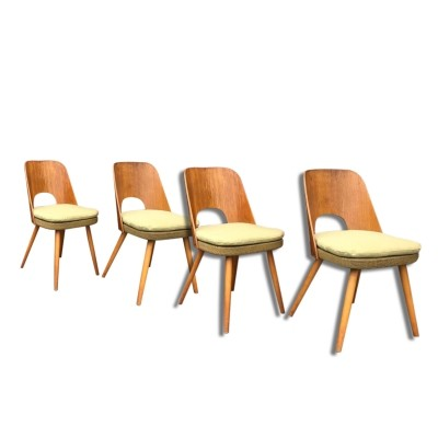 Set of 4 Oswald Haerdtl dining chairs, 1960s
