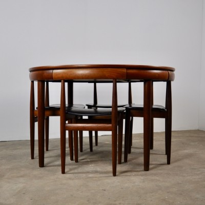 Dining Table Set by Hans Olsen for Frem Røjle, 1960s