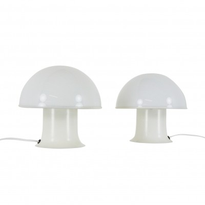 Pair of vintage mushroom table lights by Dijkstra Lampen, 1970s