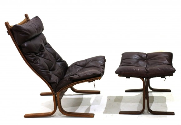 Siesta Lounge Chair with Ottoman by Ingmar Relling for Westnofa