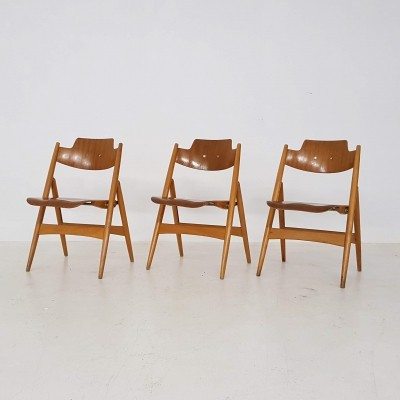Set of 3 SE18 dining chairs by Egon Eiermann for Wilde und Spieth, 1950s