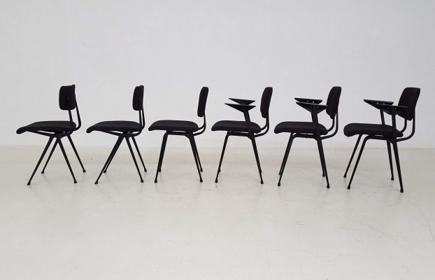 6 x Result / Revolt dinner chair by Friso Kramer for Ahrend de Cirkel, 1960s