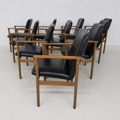 Set of 10 Impala arm chairs by Cor Bontenbal for Fristho, 1970s