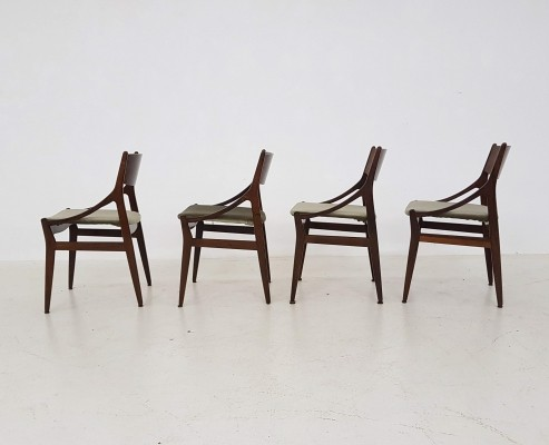 Set of 4 dinner chairs by Vestervig Eriksen for Brdr. Tromborg, 1950s