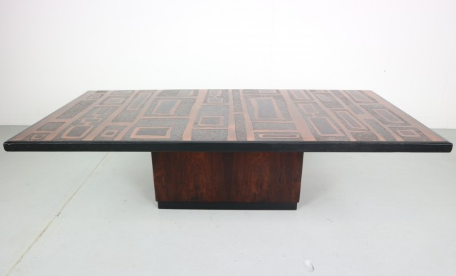 Heinz Lilienthal Copper plated Coffee Table, Germany 1970
