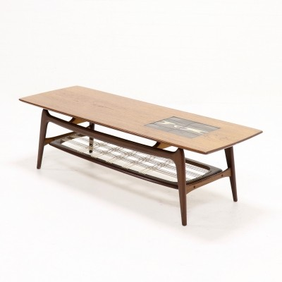 Sculptural Teak Coffee Table by Louis van Teeffelen for WeBe, 1950s