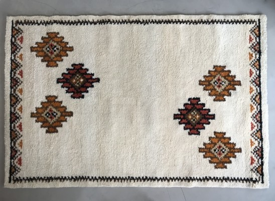 Never Used Vintage Moroccan Berber Rug, Tunisia 1978