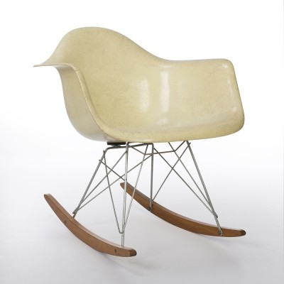 1st Gen Zenith Original Vintage Eames Parchment RAR Rocking Arm Chair