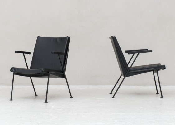 Pair of 'Oase' Easy chairs by Wim Rietveld for Ahrend de Cirkel, 1960s