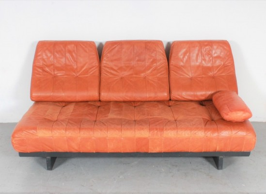 De Sede DS80 daybed in cognac leather, 1980s