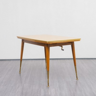 Time-typical height-adjustable dining table, 1950s