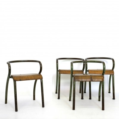 4 x Child's chair by Jacques Hitier for Mobilor