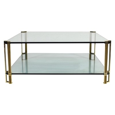 Peter Ghyczy brass & glass coffee table