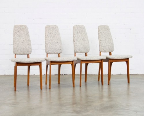 Set of 4 dinner chairs by Erik Buch for OD Møbler, 1960s