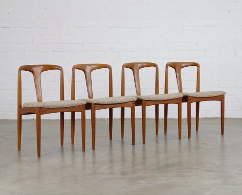Set of 4 Juliena dining chairs by Johannes Andersen for Uldum Møbelfabrik, 1950s