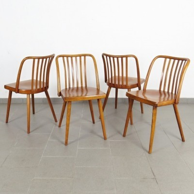 Set of 4 dining chairs by Antonin Šuman for TON, 1960s