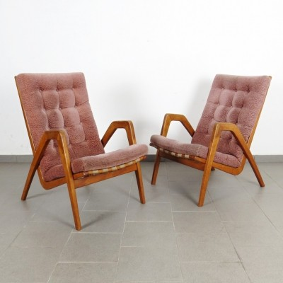 Pair of Krásná Jizba arm chairs, 1940s