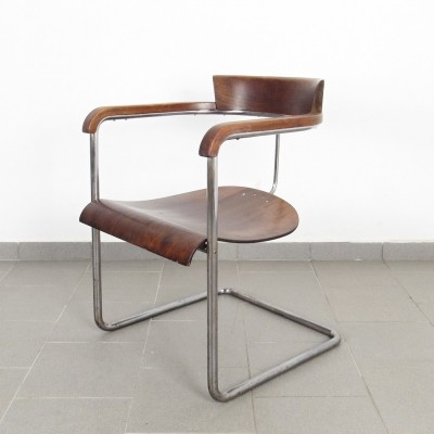 H - 128 arm chair by Jindřich Halabala for UP Závody, 1930s