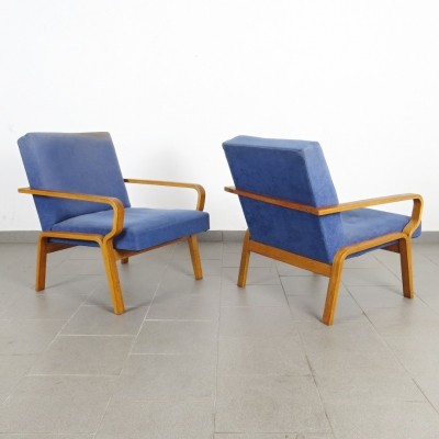 Pair of arm chairs by Ludvík Volák for Dřevopodnik Holešov, 1970s