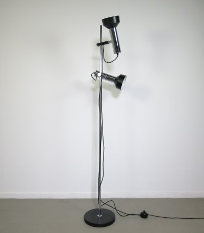 Chrome floorlamp by Koch & Lowy OMI, 1960's