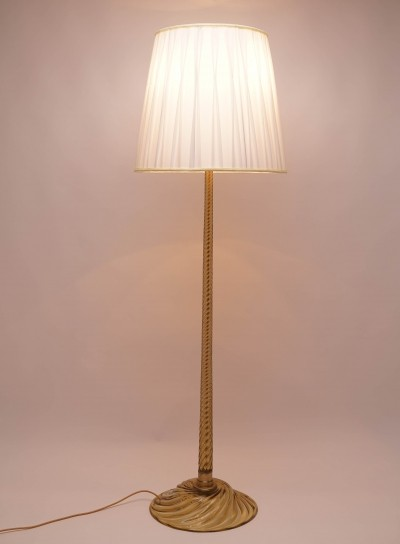 Venini Floor Lamp with Murano Glass, 1940s