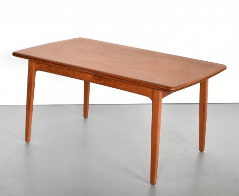 Extendable teak dining table by Svend Aage Madsen, 1950s