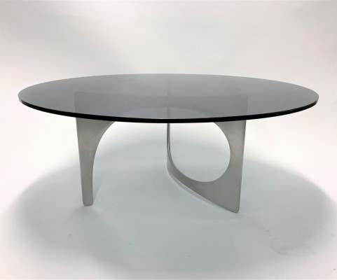 Vintage sculptural coffee table by Knut Hesterberg, 1960s