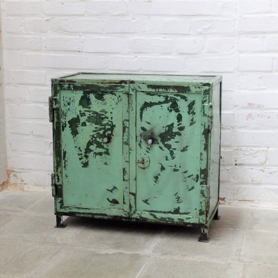 Compact green industrial cabinet