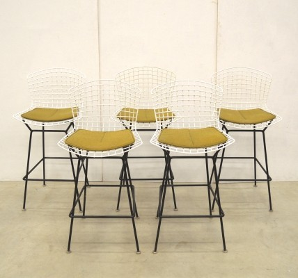 5 x Wire stool by Harry Bertoia for Knoll, 1960s
