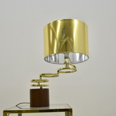 Hollywood regency style adjustable brass table lamp by Willy Rizzo for BF lighting