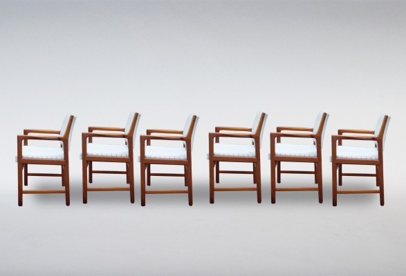 Set of 6 Teak Armchairs by Karl Erik Ekselius, 1970s