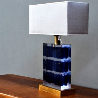 Italian plexiglass & resin table lamp