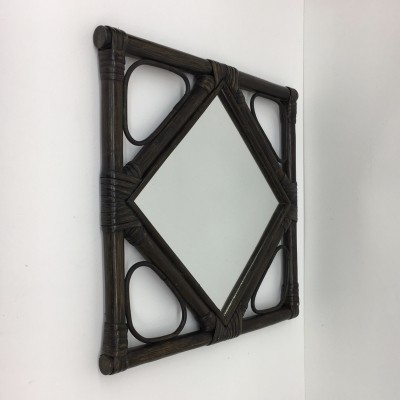 Retro bamboo mirror, 1970's