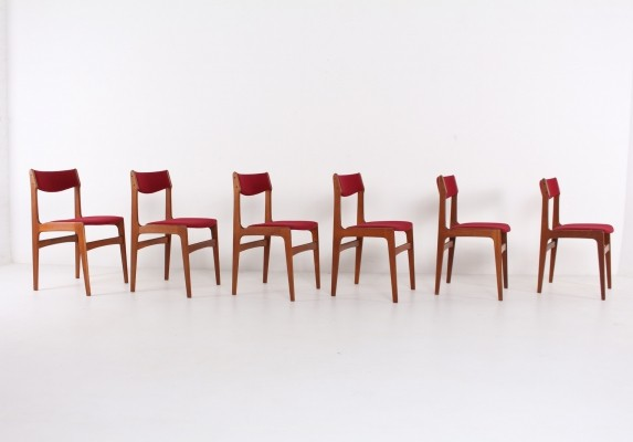 6 scandinavian chairs, 1970s