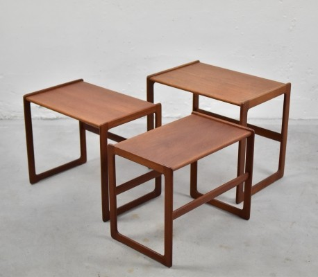 Nesting tables by Arne Hovmand Olsen for Mogens Kold, Denmark 1960's
