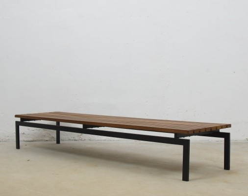 Mid-century bench in wenge from France, 1950's