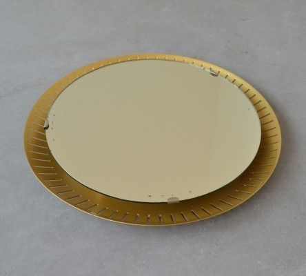 Illuminated wall mirror by Stilnovo, Italy 1960's