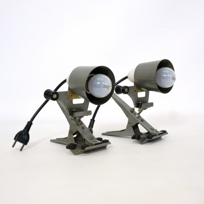 Pair of Cremer industrial spotlights from the fifties