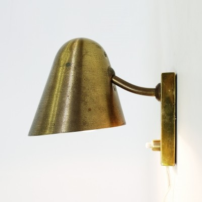 Golden wall lamp, France 1950's