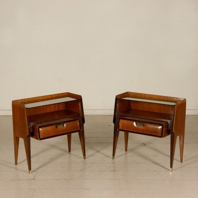 Pair of Nightstands in Mahogany, 1950s