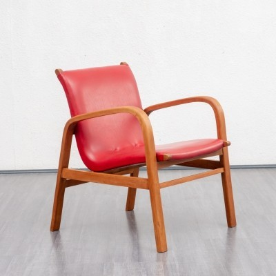 1950s easy chair in red
