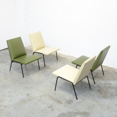 4 x 'Robert' Low Chair by Pierre Guariche for Meurop
