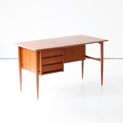 Danish Mid-Century Modern Teak Day Desk, 1950s